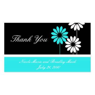 Cartões de agradecimentos do casamento da cartão de visita