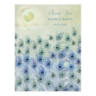 Cartões de agradecimentos do casamento da fantasia cartão postal