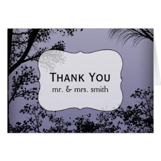 Cartões de agradecimentos do casamento da floresta