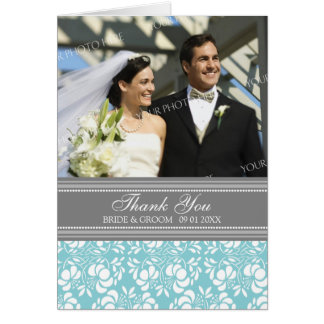 Cartões de agradecimentos do casamento da foto das