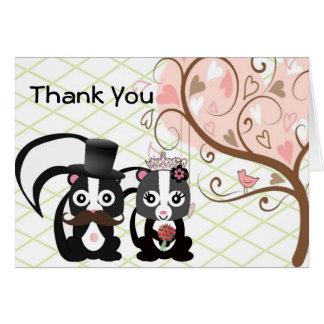 Cartões de agradecimentos do casamento da jaritata