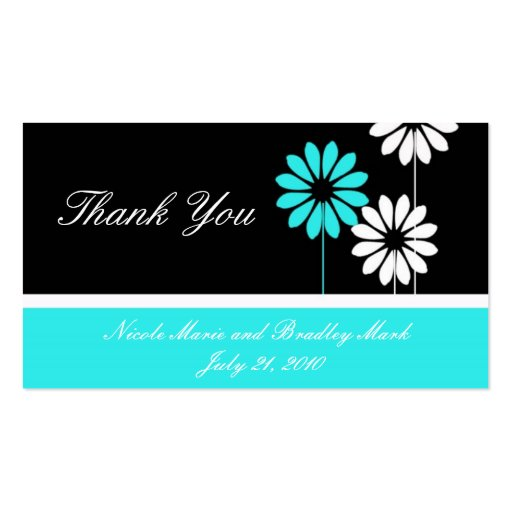 Cartões de agradecimentos do casamento da margarid cartão de visita