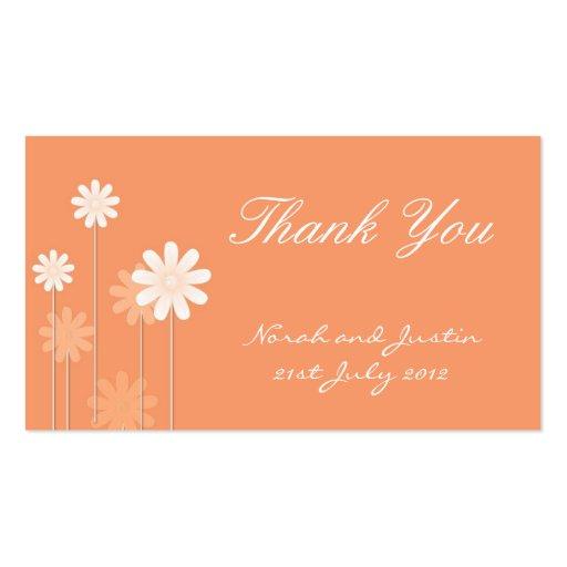 Cartões de agradecimentos do casamento da margarid modelo cartão de visita