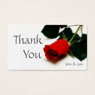 Cartões de agradecimentos do casamento da rosa