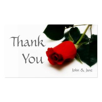 Cartões de agradecimentos do casamento da rosa cartão de visita