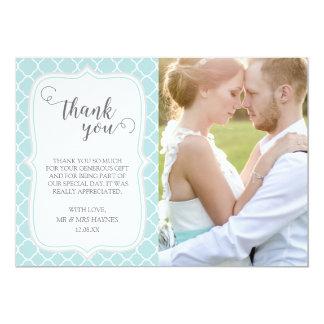 Cartões de agradecimentos do casamento, design de