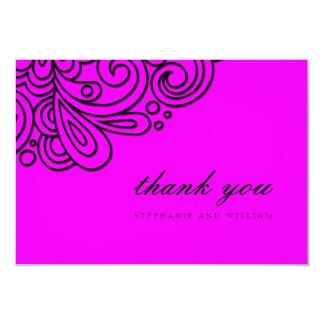 Cartões de agradecimentos do casamento do convite 8.89 x 12.7cm