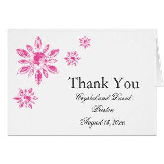 Cartões de agradecimentos do casamento do cristal