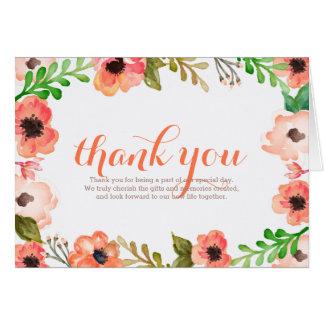 Cartões de agradecimentos do casamento do dossel