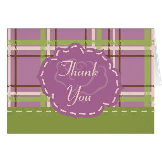 Cartões de agradecimentos do casamento do jardim
