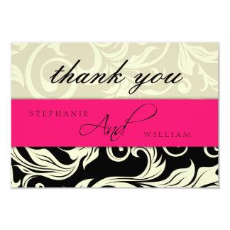 Cartões de agradecimentos do casamento do marfim convite 8.89 x 12.7cm