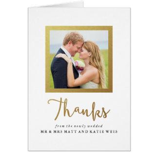 Cartões de agradecimentos do casamento do quadro
