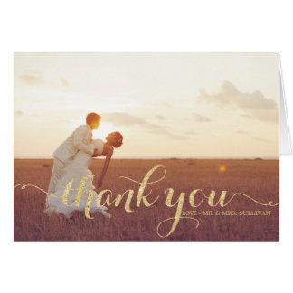 Cartões de agradecimentos do casamento do roteiro