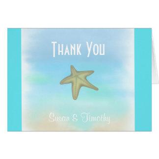 Cartões de agradecimentos do casamento do Seashell