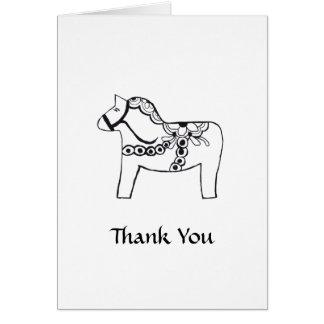 Cartões de agradecimentos do cavalo de Dala