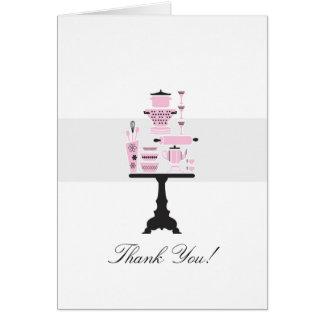 Cartões de agradecimentos do chá de casamento