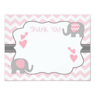 Cartões de agradecimentos do chá de fraldas, chá convite 10.79 x 13.97cm