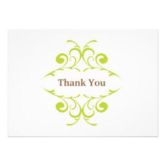 Cartões de agradecimentos do chá de fraldas convite