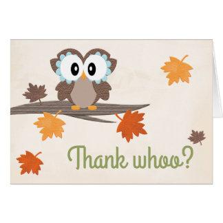 Cartões de agradecimentos do chá de fraldas da