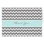 Cartões de agradecimentos do chá de fraldas das vi