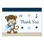 Cartões de agradecimentos do chá de fraldas de convites