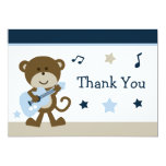 Cartões de agradecimentos do chá de fraldas de convite 12.7 x 17.78cm