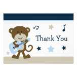 Cartões de agradecimentos do chá de fraldas de Roc Convites