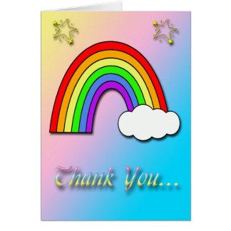 Cartões de agradecimentos do chá de fraldas do