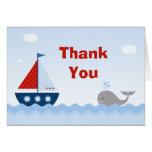 Cartões de agradecimentos do chá de fraldas do bar