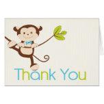 Cartões de agradecimentos do chá de fraldas do men
