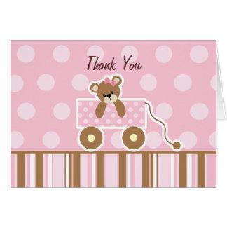 Cartões de agradecimentos do chá de fraldas do urs