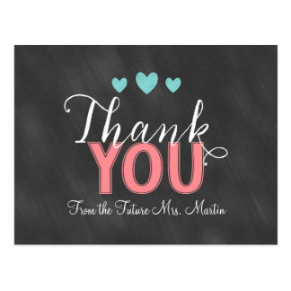 Cartões de agradecimentos do chá de panela cartão postal