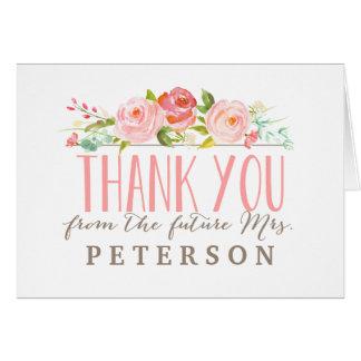 Cartões de agradecimentos do chá de panela do