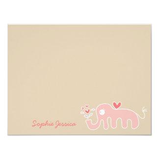 Cartões de agradecimentos do chá do bebé do convite 10.79 x 13.97cm