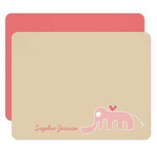 Cartões de agradecimentos do costume do bebé do convite 10.79 x 13.97cm
