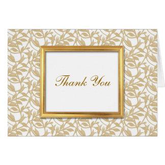 Cartões de agradecimentos do costume do quadro do