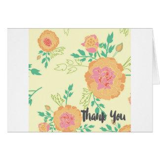 Cartões de agradecimentos do cravo-de-defunto