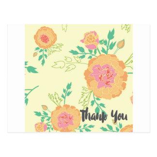 Cartões de agradecimentos do cravo-de-defunto cartão postal
