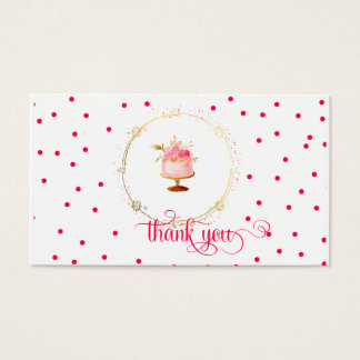 Cartões de agradecimentos do cupcake do ★