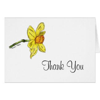 Cartões de agradecimentos do Daffodil (narciso)
