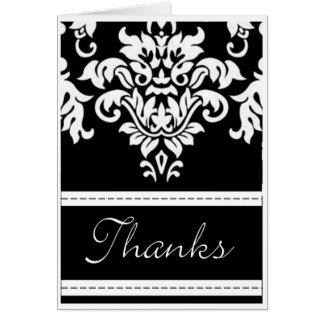 Cartões de agradecimentos do damasco