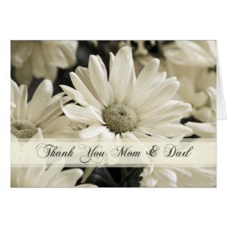 Cartões de agradecimentos do dia do casamento dos