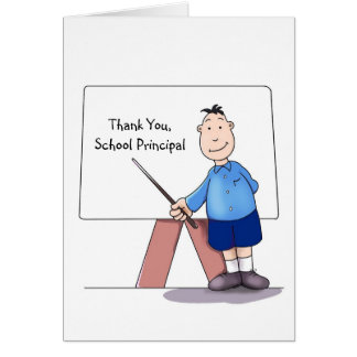 Cartões de agradecimentos do director de escola,