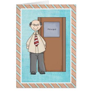 Cartões de agradecimentos do director de escola