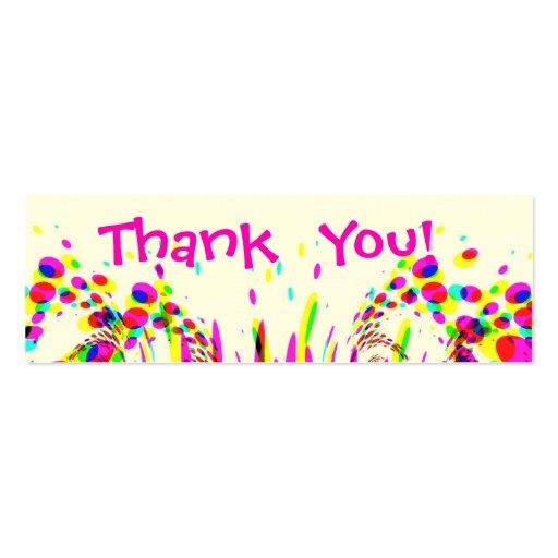 Cartões de agradecimentos do divertimento com conf cartao de visita