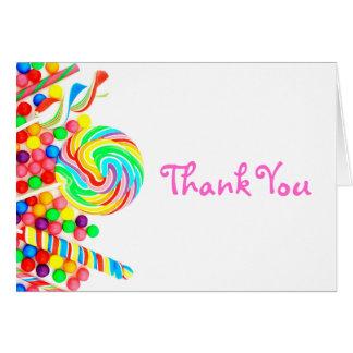 Cartões de agradecimentos do doce 16 do tema dos