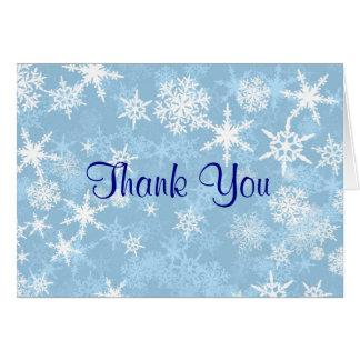 Cartões de agradecimentos do doce de inverno 16 do
