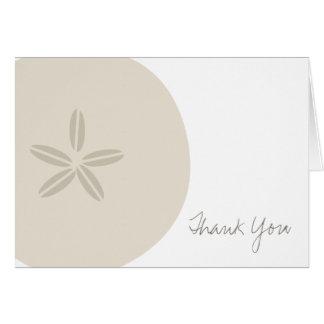 Cartões de agradecimentos do dólar de areia