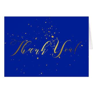 Cartões de agradecimentos do efeito da folha de