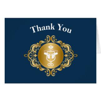 Cartões de agradecimentos do emblema do ícone da